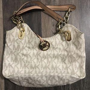 Michael Kors signature shoulder handbag purse